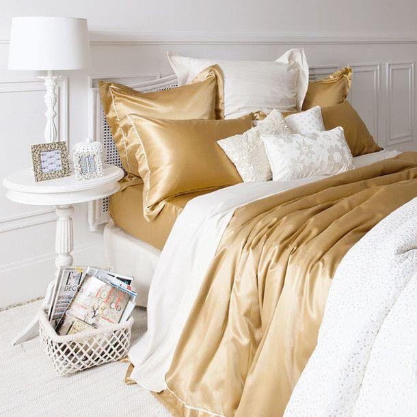jewels bedding zara gold silk pillow inspiration design home decor