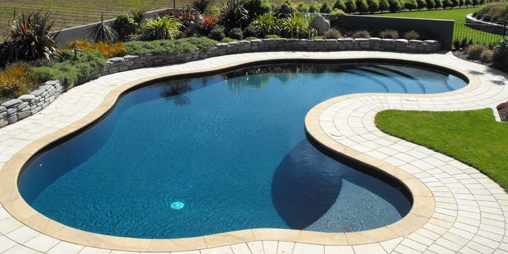 Kidney Shaped Landscape Designs View Landscape Design Pool With Fountain Spa View Landscape Design Pool Landscape Design Pool Landscaping Kidney Shaped Pool