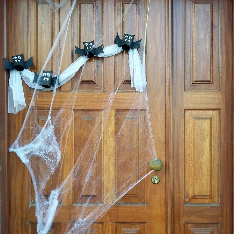 Dia das Bruxas 2015 Morceguinhos na porta... as aranhas também por lá andaram