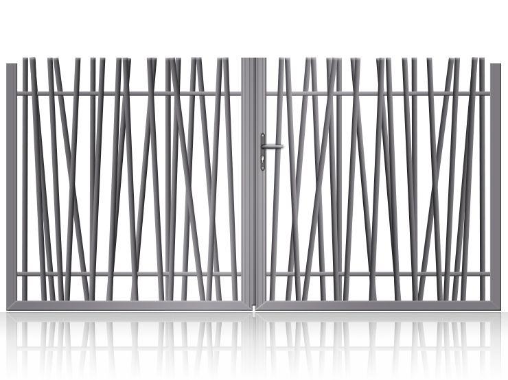 Portail Alu Battant Sur Mesure Design Avec Tubes Pyla Portail Alu Portail Et Design De Cloture