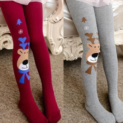 3ce9d8c9d211ae Kids Girls Cotton Christmas Elk Tights Socks Stockings Hosiery Pantyhose  Xmas. Children Tights for Girls Baby Pants ...