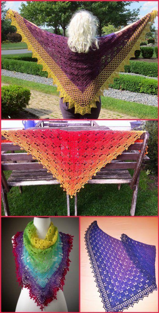 100 Free Crochet Shawl Patterns - Free Crochet Patterns   Pinterest ...