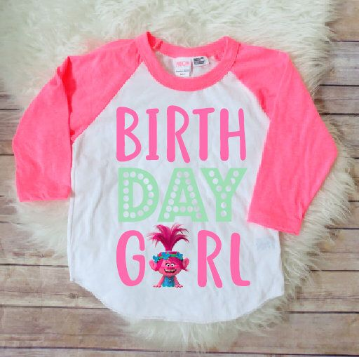Trolls birthday shirt, trolls birthday party, trolls birthday theme, trolls party, custom trolls birthday shirt, poppy birthday shirt