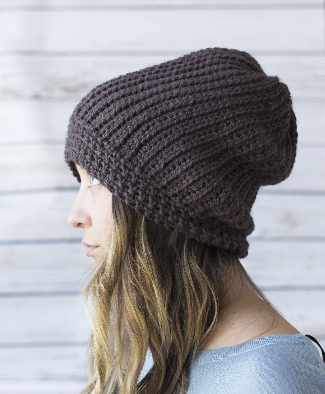 free hat crochet pattern rib hat | Knitting, Crocheting & Sewing ...
