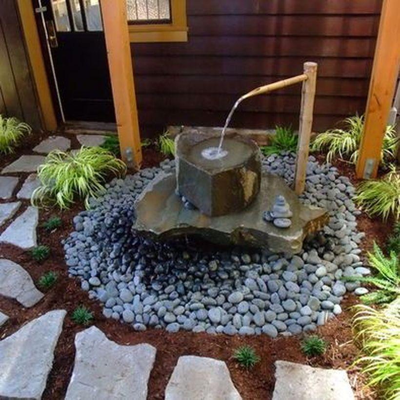 Zen Water Fountain Ideas For Garden Landscaping 7