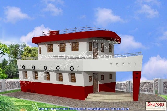 Architecture Floor Plan of ship shaped building By SKYROSS habitat ...