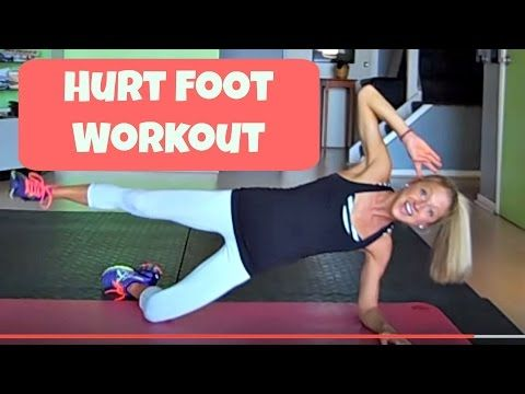 Part 1: Hurt Foot Workout. Exercise You can Do With An Injured Ankle, Foot, Toe.