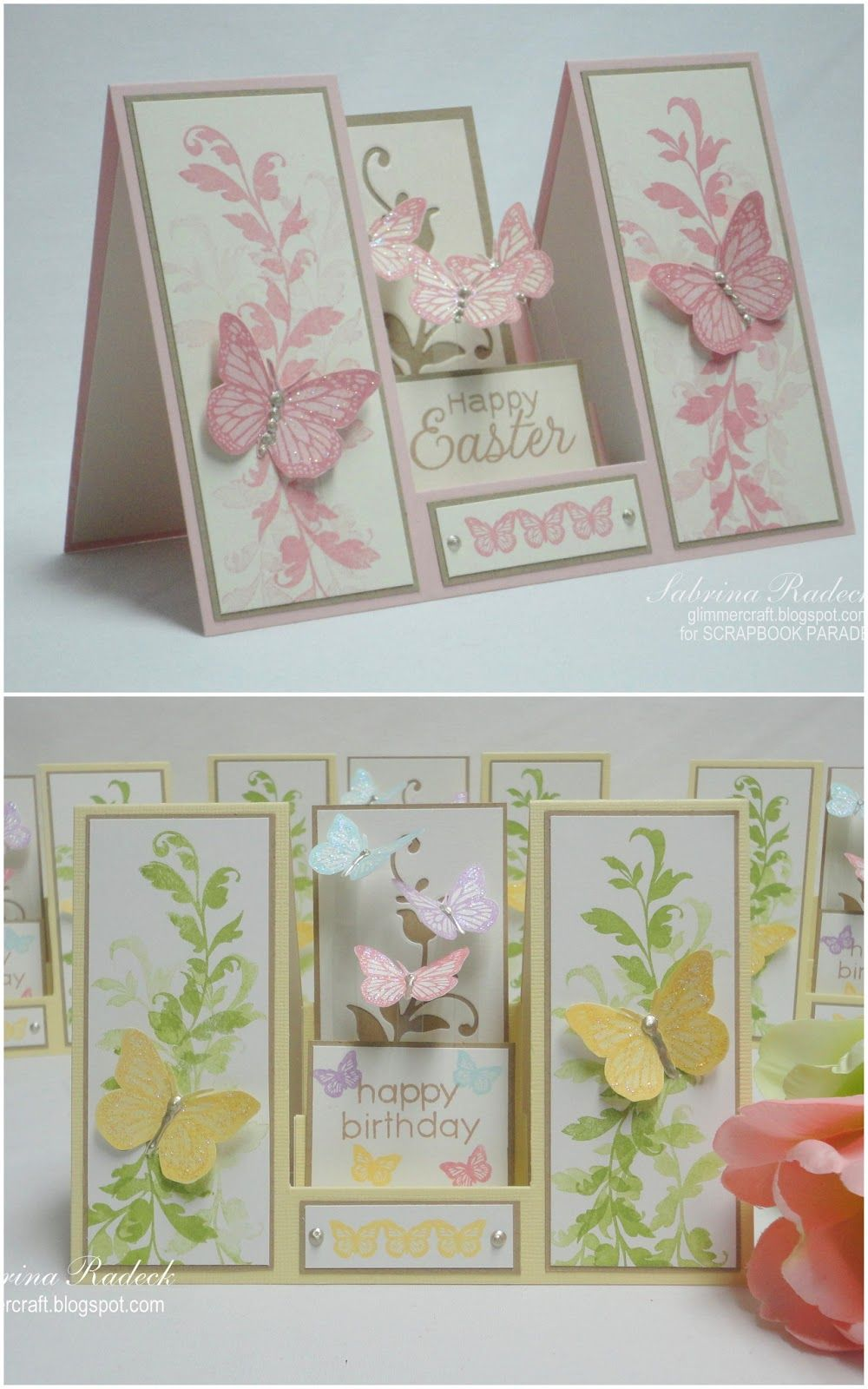 Aspiring to creativity double sided step card tutorial handmade easter cards from aspiring to creativity double sided step card tutorial instructions on how to make this cool fold kristyandbryce Image collections