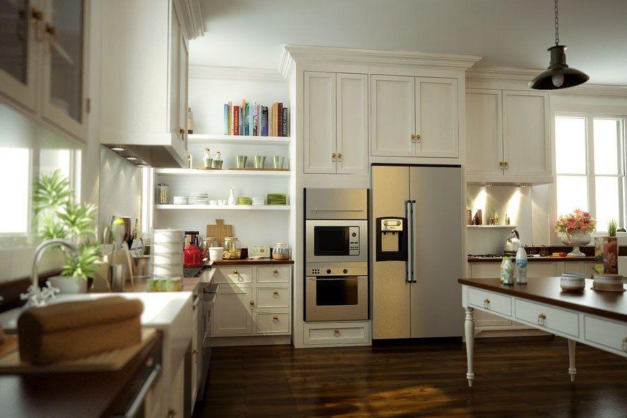 Classic Kitchen Design (2007) - CG-Projects - 3D Archviz ...