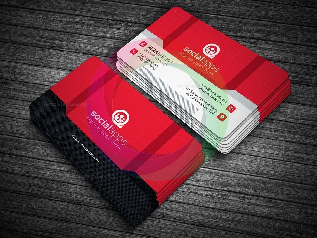 3d Effect Business Card Template Premium Graphic Design Templates Business Card Template Card Template Business Card Template Design