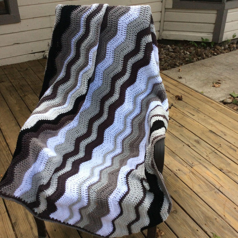Crochet ripple afghan blanket, Crochet blanket, Berry colours crochet blanket/Soft wave Blanket/ Chevron Blanket/Throw/Made to order by DollyEmmaCrafts on Etsy