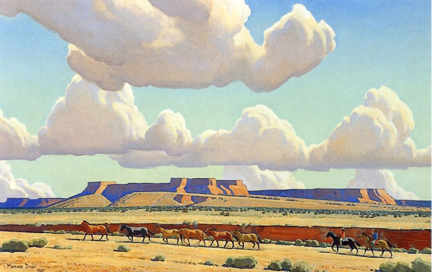 Wide Lands of the Navajo   by Maynard Dixon   Giclee Canvas Print Repro