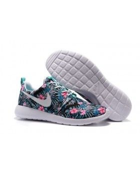 official photos d8119 fcd5c Nike Roshe One Print PREM Washed Teal Floral Running Shoes NSW