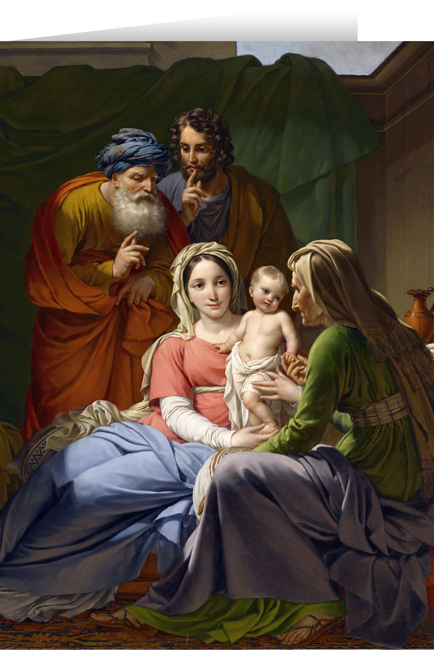 Holy Family with Grandparents Joachim and Anne Christmas Cards (25 ...