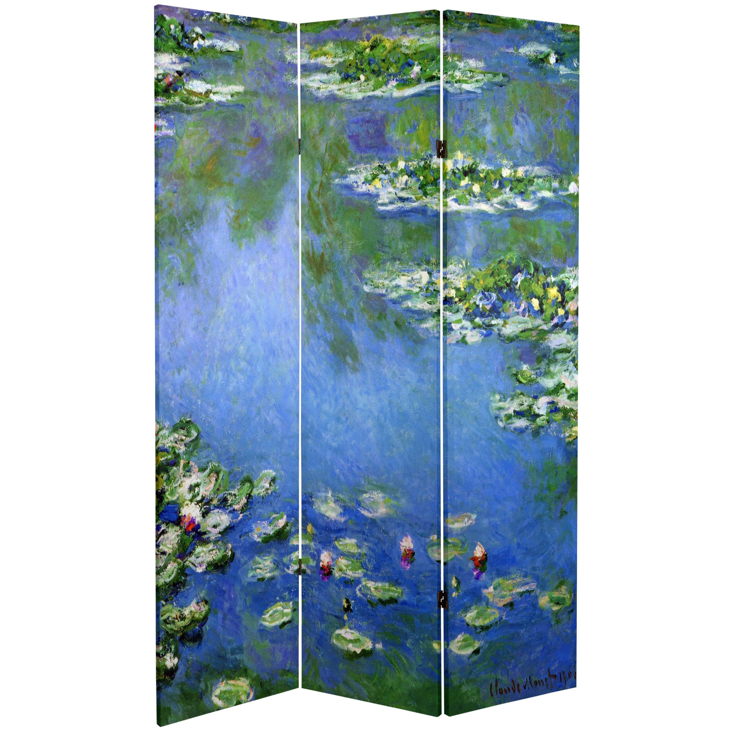 Monet Lilies / Garden At Giverny Art Print Screen (Canvas/Double Sided)