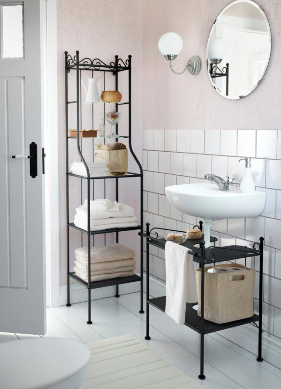 Picture of Towel Shelves in the Bathroom – from Messy to Stylish ...
