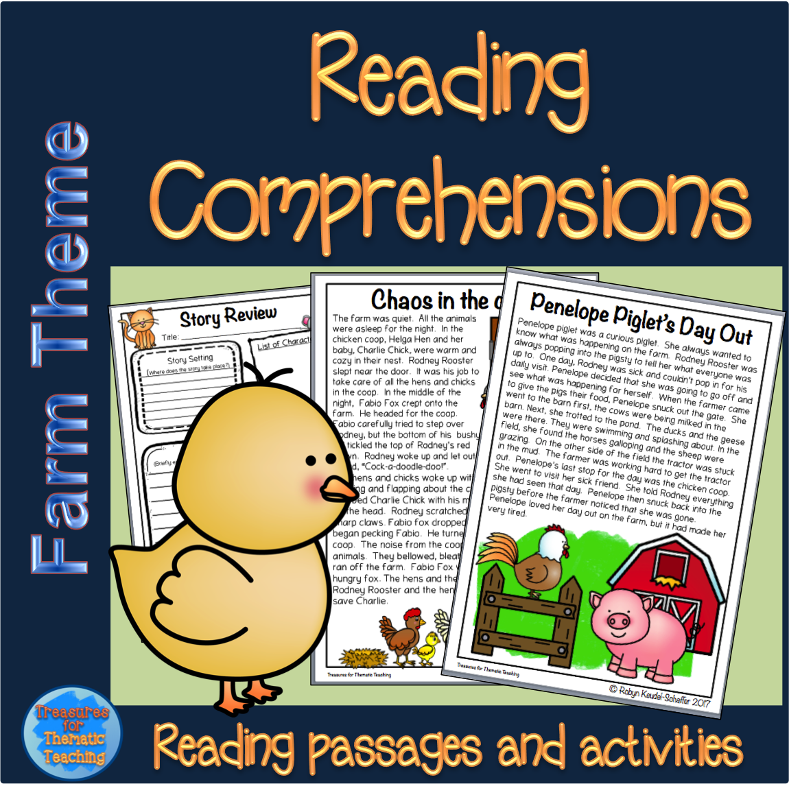 Farm Animals Reading Comprehension Passages And Questions