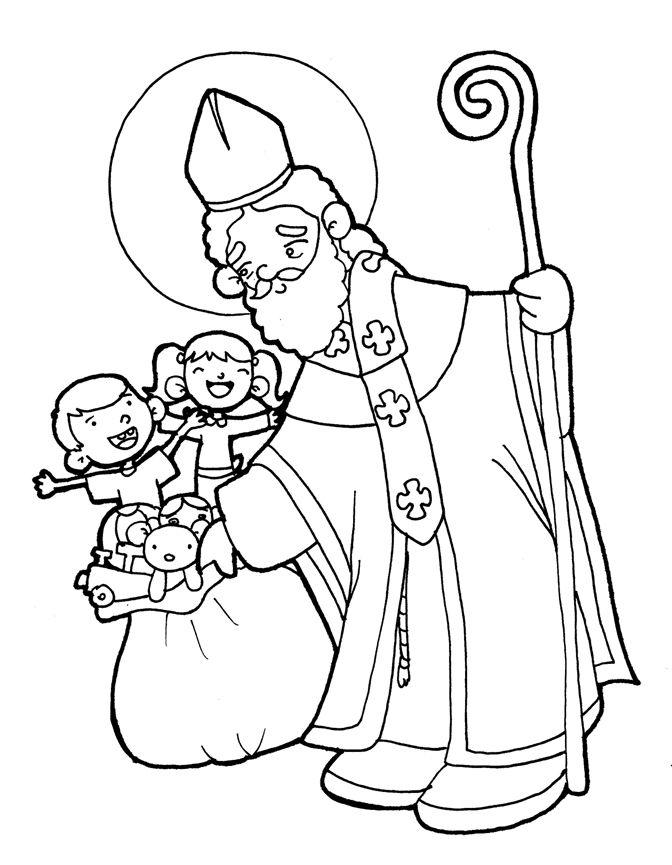 SAN NICOLÁS DE BARI para pintar. | religion | Pinterest | Santos ...