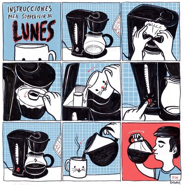Instrucciones Para Sobrevivir Al Lunes Funny Spanish Memes Funny Memes Spanish Humor