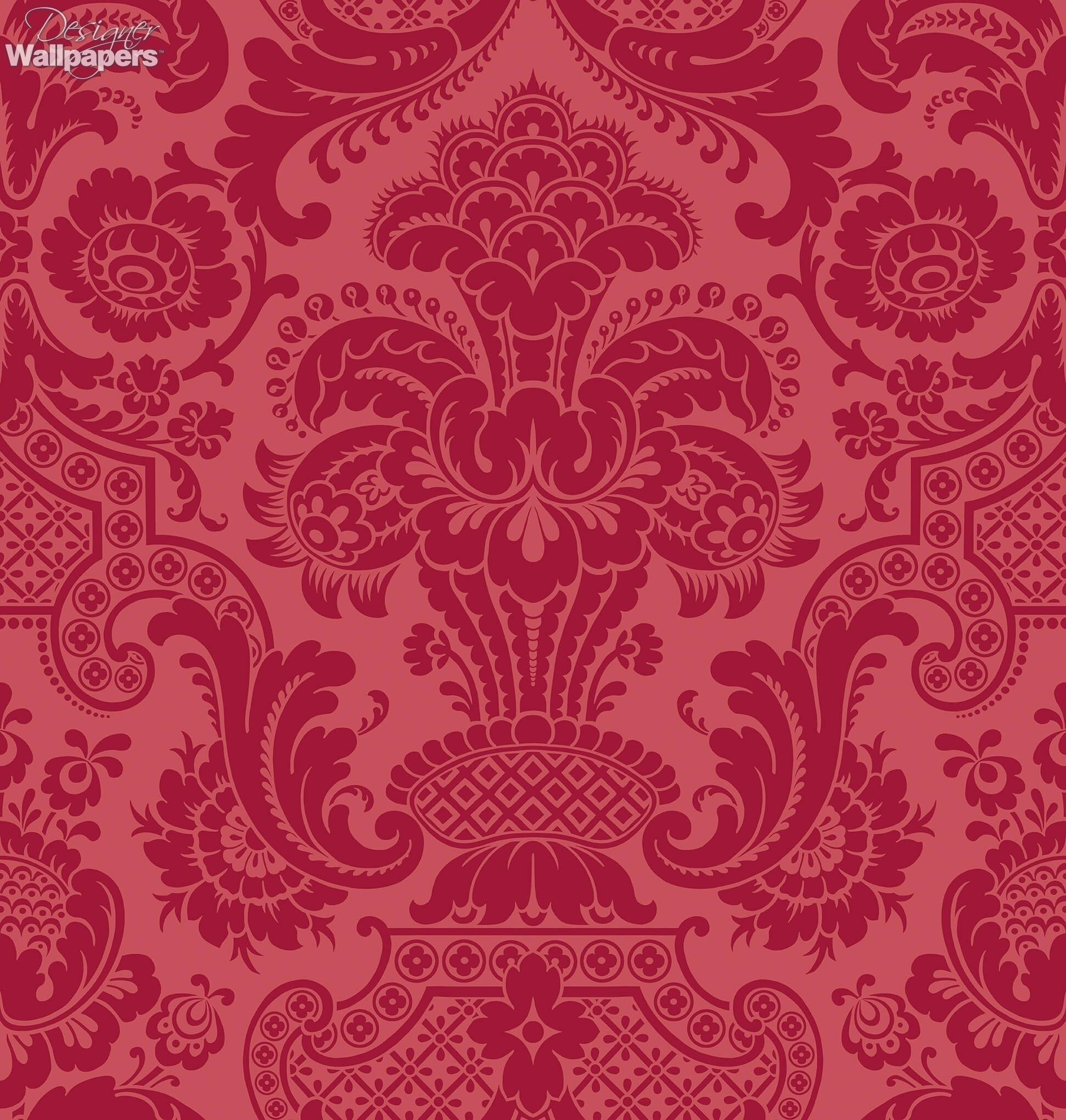 Is Wallpaper Expensive strikingly designed, this petrouchka flock wallpaper is rich with