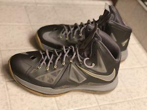 quality design 7e457 33b45 Nike LeBron 10 X Yellow Canary Diamond Size 9 Grey Wolf Metallic 541100 007    eBay