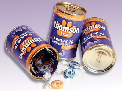 Thomsons Metal Presentation Tin - a creative packaging solution produced by Cedar Packaging