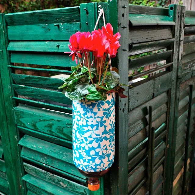 Make A Beautiful Hanging Planter Using A Two-liter Bottle