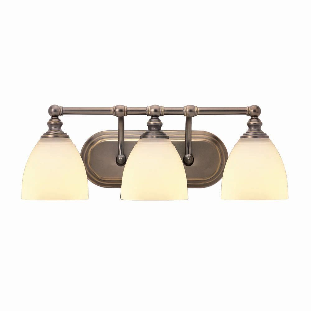 Hampton Bay 3Light Tarnished Bronze Bath Light15050 At The Home Endearing Home Depot Bathroom Light Fixtures Review