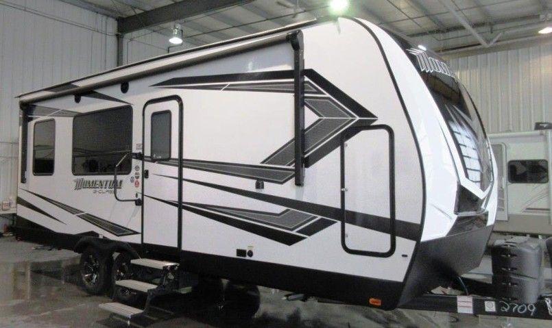 Grand design momentum gclass 21g toy hauler woodys
