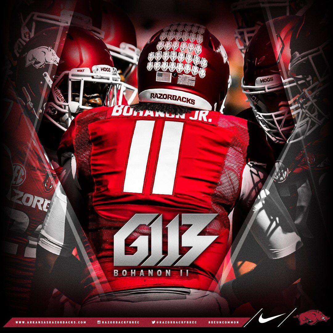 Arkansas football recruiting football helmets football