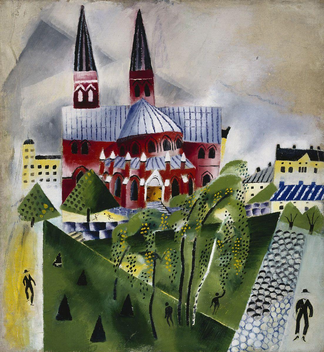 Greta Hällfors-Sipilä: Johanneksen kirkko, n. 1918. Ateneumin taidemuseo. Kuva: Kansallisgalleria / Hannu Aaltonen