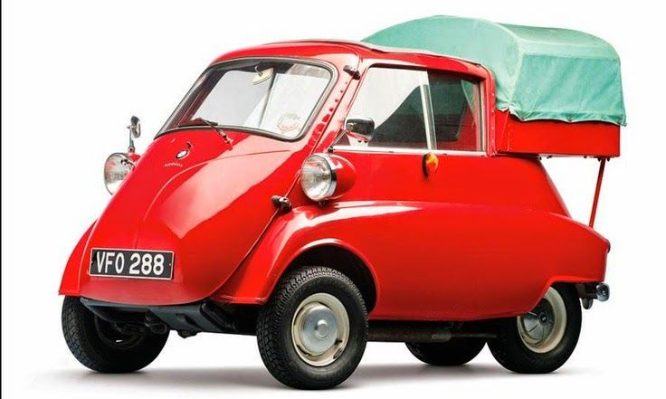 BMW's 1961 Isetta 300 Pickup. Click image for microcar roundup and visit the slowottawa.ca boards >> http://www.pinterest.com/slowottawa/boards/