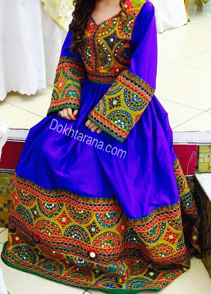 Blue Afghani Dress