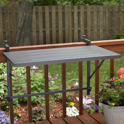 Folding Grill Shelf Deck Rail Mounted
