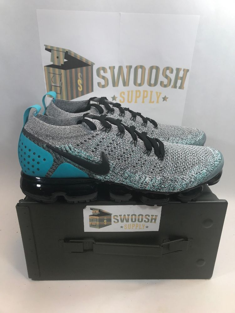 3be7ea4974 NIKE AIR VAPORMAX FLYKNIT 2 NEW SIZE 11.5 WHITE BLACK DUSTY CACTUS 942842  104 #Nike #SPORTS