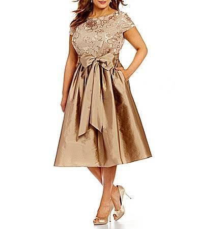 silver dress plus size Special occasion dresses