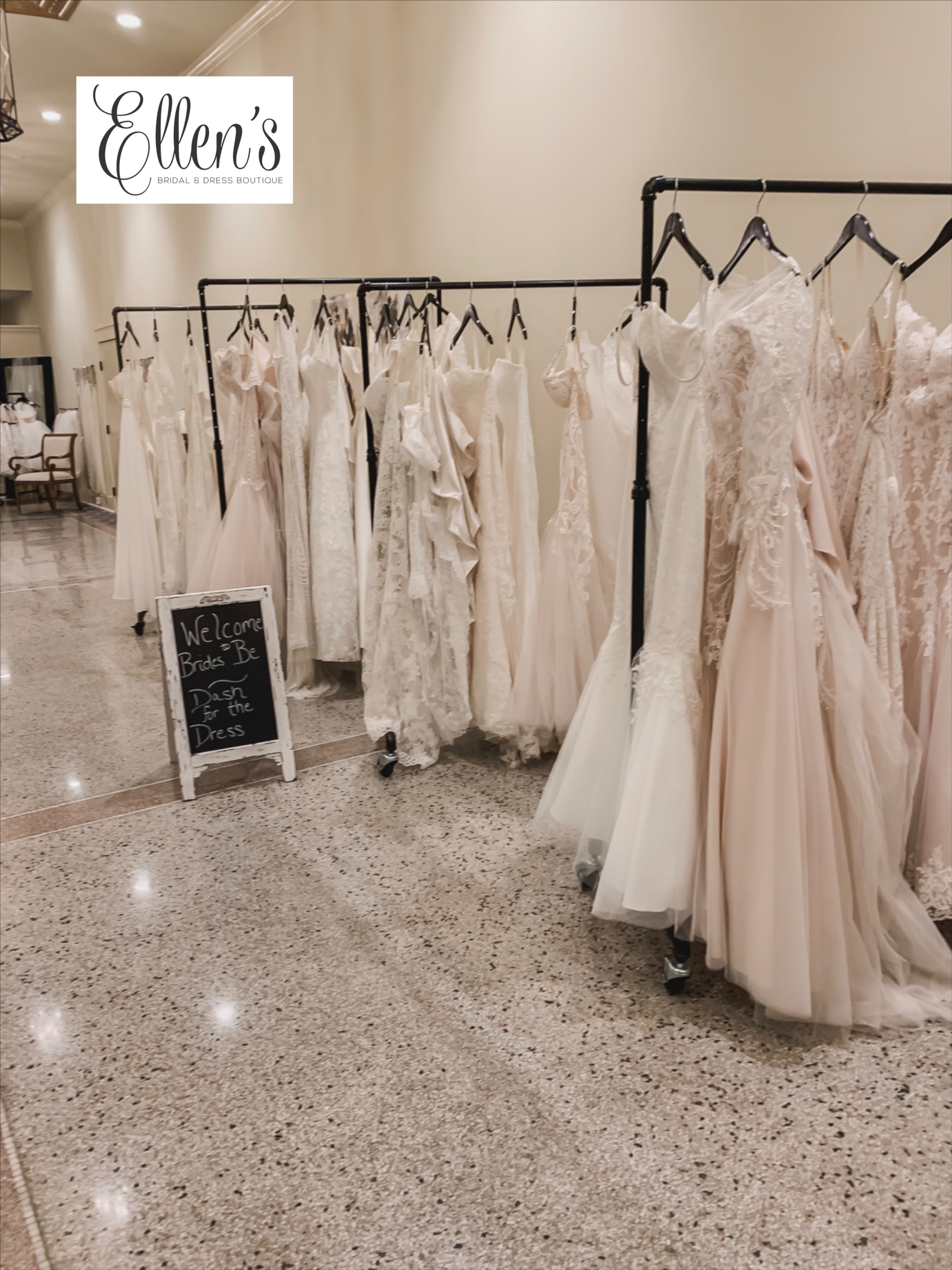 Here Was Our Setup For The Dash For The Dress Sale 2019 We Are Considering Making Our Store Open Stock Meaning Upscale Wedding Dress Boutique Dresses Bridal