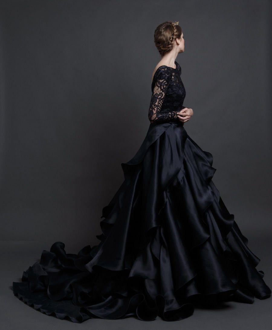 "Dress Black Wedding Dresses 2016 Wedding Dresses Gothic: Theotherwesley: "" Sponsalia: "" Sareh Nouri Spring 2016"