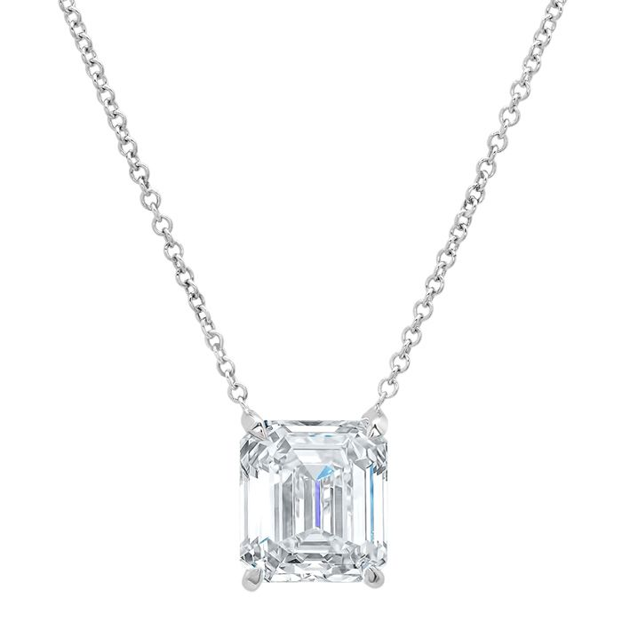 diamond necklace cz emerald faux clear zirconia fashion ct derie pendant halo products beloved silvertone contemporary cubic cut classic