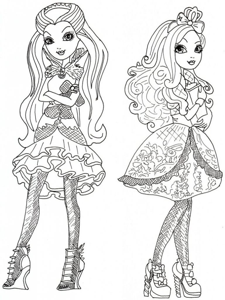 Printable coloring pages descendants disney - Ever After High Royal Or Rebel Coloring Page