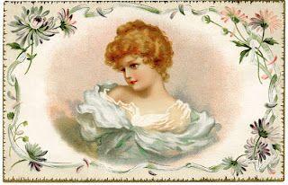 Free vintage girl and labels #free #vintage #printables