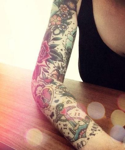 35 best tattoo sleeve ideas for women that will boggle for Bingo tattoo ideas