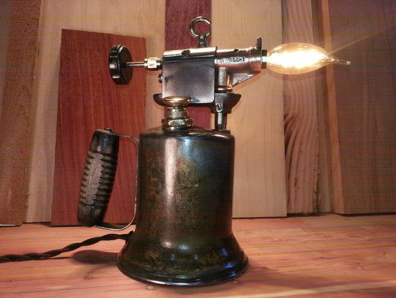 Vintage blow torch lamp light by industriousoddball on etsy