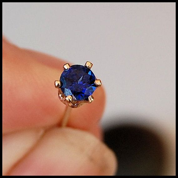 Sapphire Nose Stud With Images Nose Jewelry Gold Nose Stud