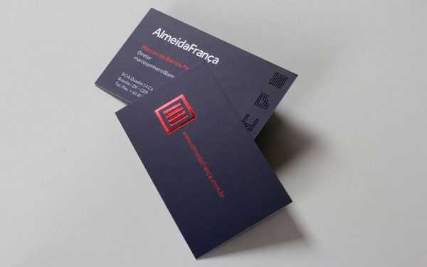 Red Foil Business Card Design 5 Types Of Printing Techniques For