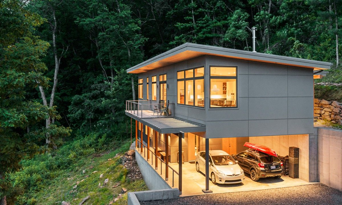 Passive solar residence in asheville north carolina steep slope house shed roof house modern house design