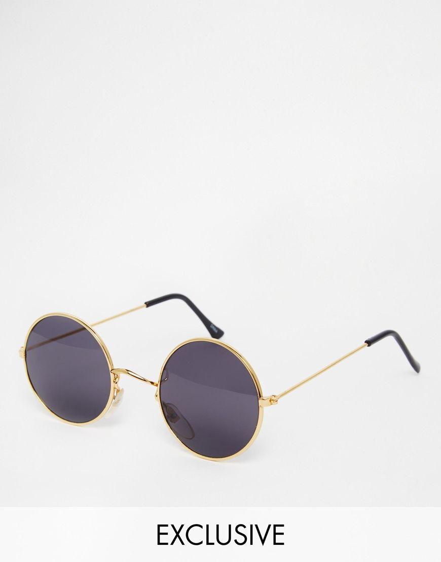 reclaimed vintage lunettes de soleil rondes mes. Black Bedroom Furniture Sets. Home Design Ideas