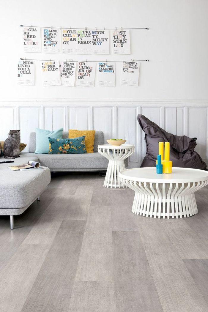 Laminat wohnzimmer modern  Wohnzimmer modern einrichten - 59 Beispiele für modernes Innendesign ...