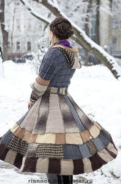 Верхняя одежда ручной работы. Ярмарка Мастеров - ручная работа Бохо-пальто. Handmade.