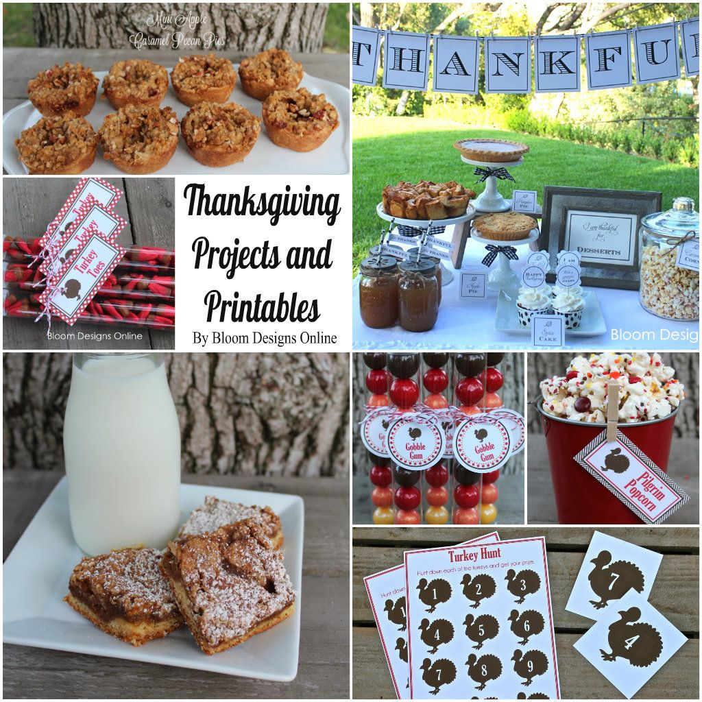 Thanksgiving Ideas, Printables and Projects.
